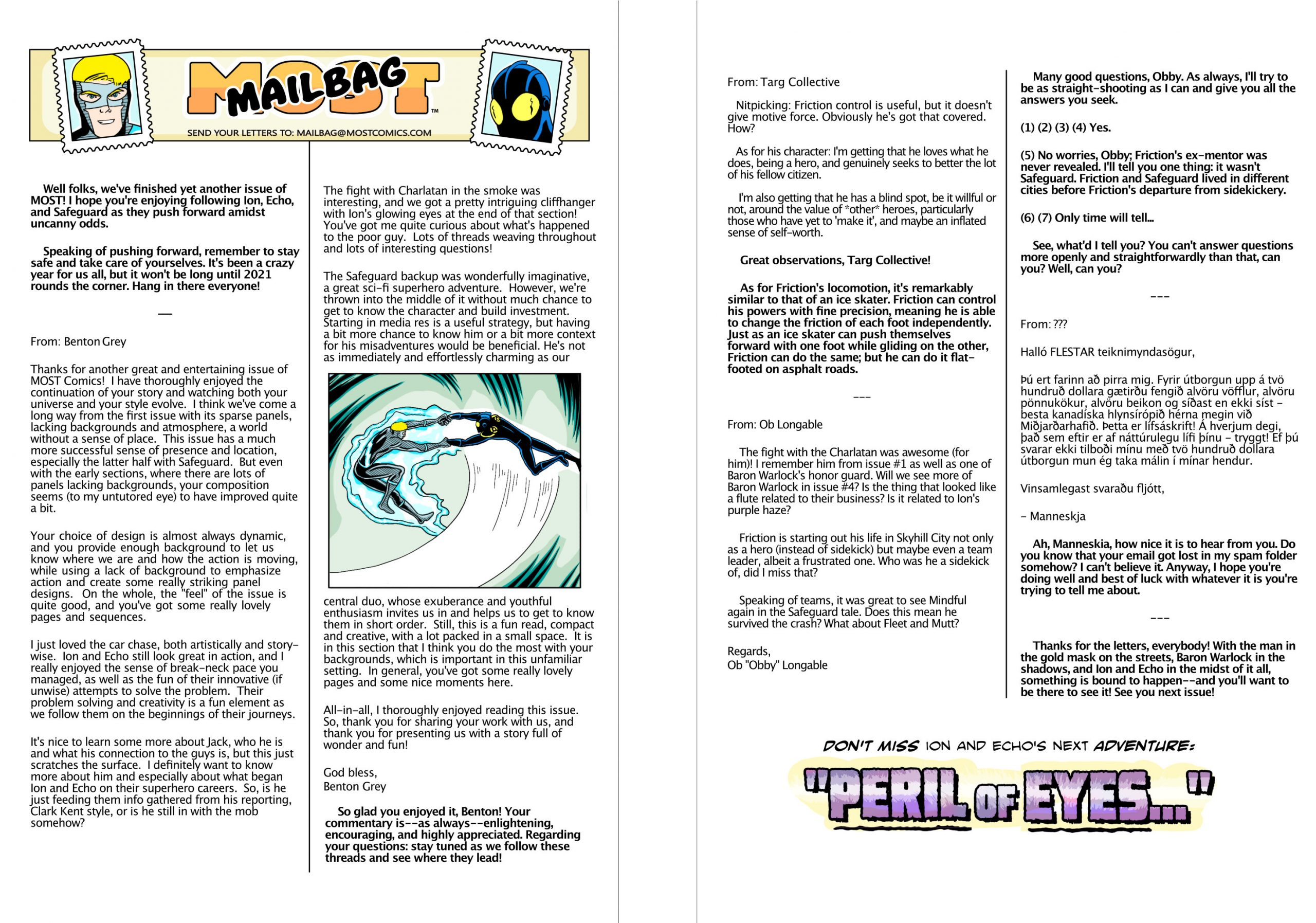 Issue 3 letters page!